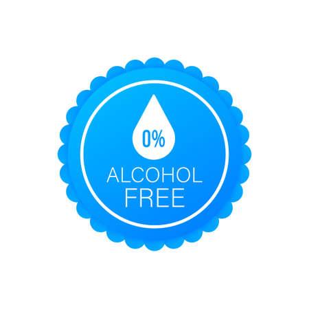 Alcohol free icon symbol on white background Reklamní fotografie - 133066812
