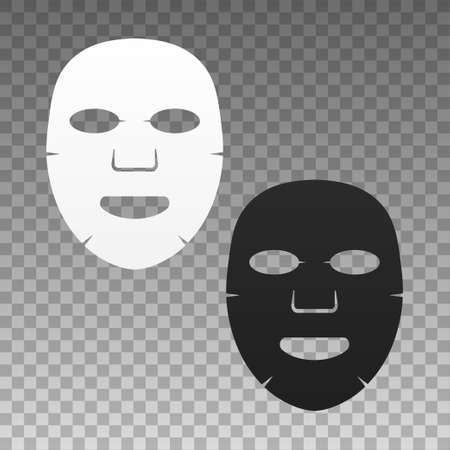 Facial mask flat icon. Medicine, cosmetology and health care. stock illustration. Vektorové ilustrace