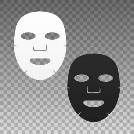 Icono plano de máscara facial. Medicina, cosmetología y salud. Ilustración de stock. Ilustración de vector