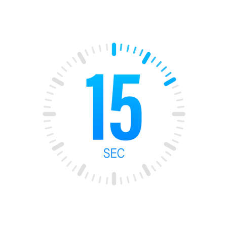 The 15 second, timer, stopwatch vector icon. Stopwatch icon in flat style. Vector stock illustration. Illusztráció