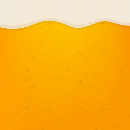 lager beer background. Beer in the high magnification. Vector stock illustartion.