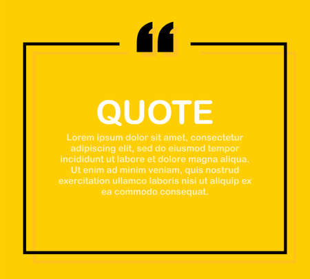 Quote frames. Blank template with print information design quotes. Vector stock illustration