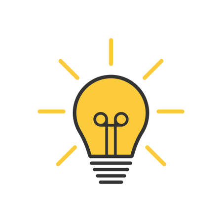 light bulb. lamp, incandescent bulb Vector stock illustration Ilustração