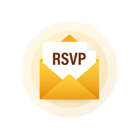 RSVP mail icon. Please respond to mail linear sign. Vector stock illustration Vector Illustration