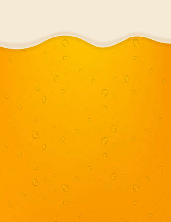 lager beer background. Beer in the high magnification. Vector stock illustration.
