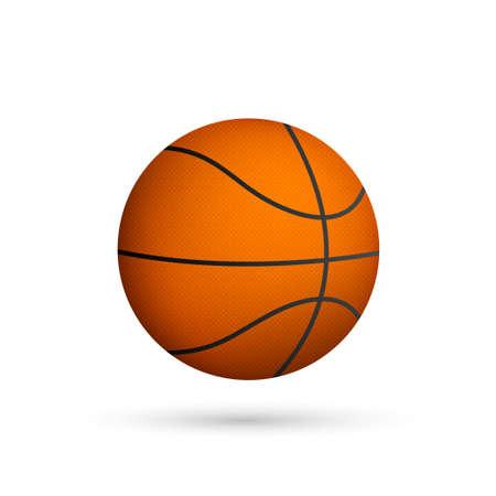 Pelota de baloncesto. Ilustración de vector aislado sobre fondo blanco. Ilustración de vector