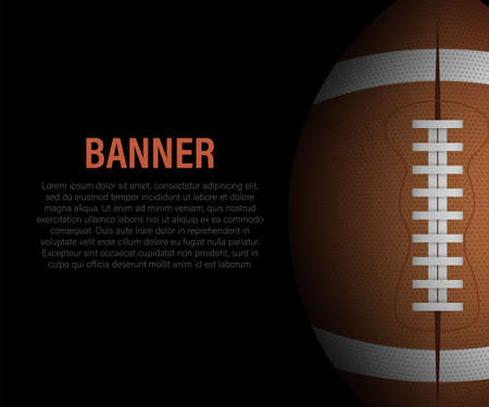 American Football and rugby sports. Football banner. Vector stock illustration
