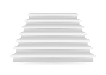 Szczegółowa ilustracja białych schodów. Ilustracja wektorowa Ilustracje wektorowe