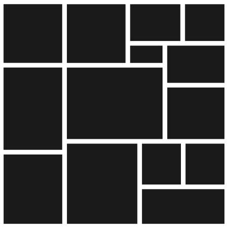 Collection of vector blank photo frames. Set of photos frame for your picture. Vector stock illustration Illustration