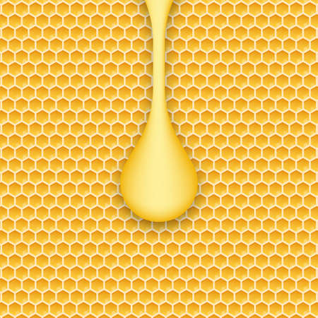 Honeycomb and honey. Monochrome honey pattern. Vector stock illustration Ilustrace