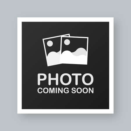 Photo coming soon. Picture frame. Vector stock illustration. Vektoros illusztráció