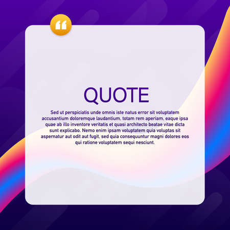 Quote background vector. Creative Modern Material Design Quote template. Vector stock illustration