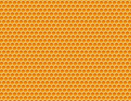 Honeycomb monochrome honey pattern. Vector stock illustration