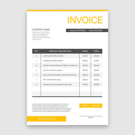Business card with invoice. Customer service concept. Online payment. Tax payment. invoice template. Vector stock illustration