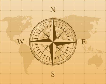 Compass on white background. Flat vector navigation symbol. Vector stock illustration