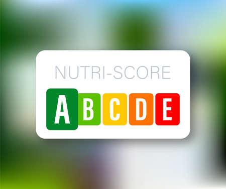 Nutri score for packaging design. icon, label. Vector stock illustration