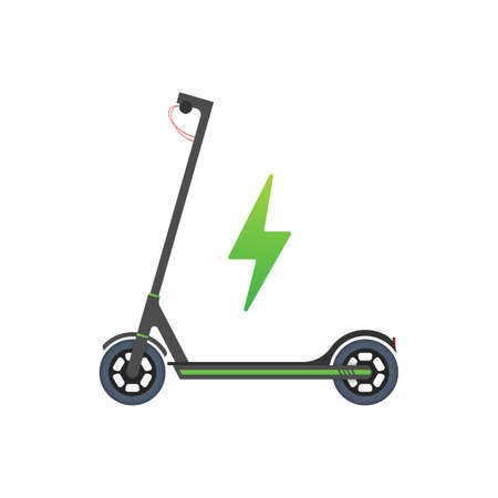 Electric Scooter Icon. Modern lifestyle. Eco transport for city lifestyle. Scooter. Vector stock illustration