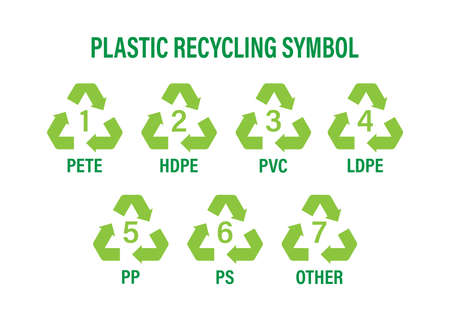 Recycle icon symbol vector. Plastic recycling, great design for any purposes. Recycle recycling symbol. Vector stock illustration