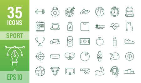 Flat sport icon for web design. Soccer ball. Web icon set. Fitness sport. Vector stock illustration.