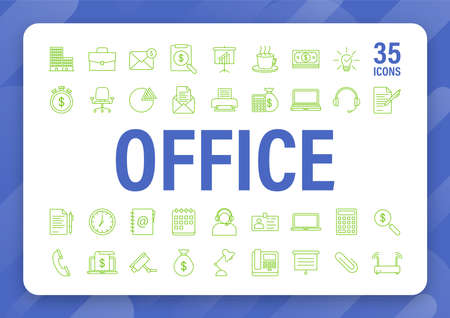 Office icon. Web icon set. Office, great design for any purposes. Vector stock illustration  イラスト・ベクター素材