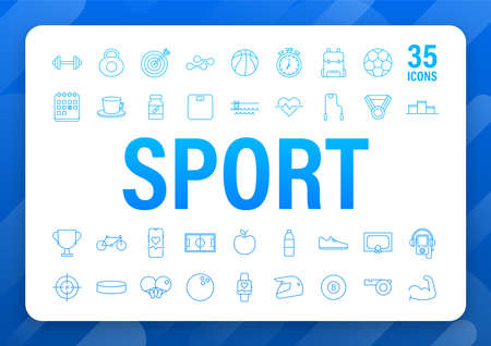 Flat sport icon for web design. Soccer ball. Web icon set. Fitness sport. Vector stock illustration