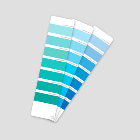 Color palette guide on grey background. Vector stock illustration.