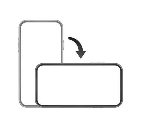 Rotate smartphone isolated icon. Device rotation symbol. Turn your device  イラスト・ベクター素材