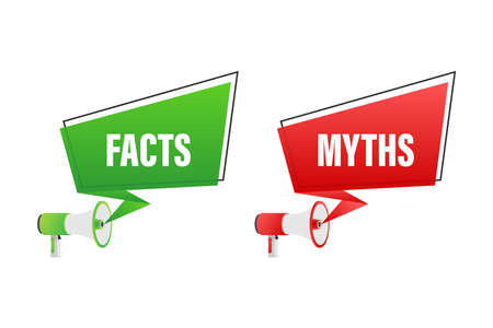 Myths facts. Facts, great design for any purposes. Vector stock illustration