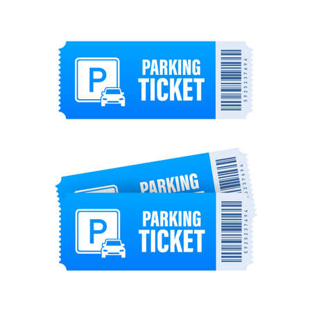 Parking tickets, great design for any purposes. Parking zone. Vector stock illustration