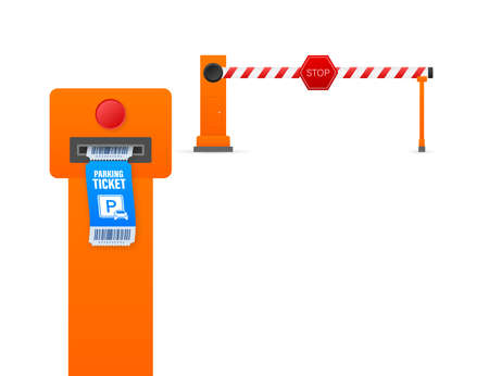 Parking tickets, great design for any purposes. Parking payment station. Vector stock illustration