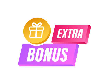 Extra Bonus for promotion design. Surprise banner. Discount banner promotion template. Web template for marketing promo design. Vector stock illustration.