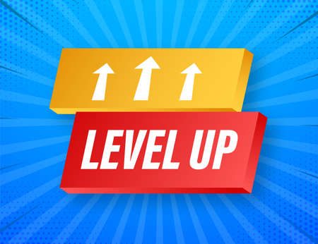 Game icon bonus. level up icon, new level . Vector illustration.