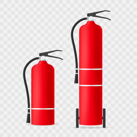 Fire extinguisher protection isolated. Vector stock illustration