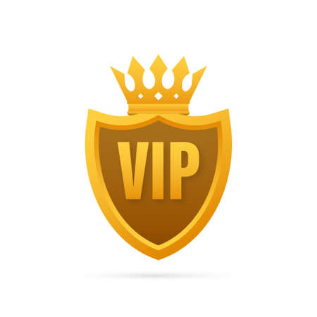 Vip label on Black background. Vector stock illustration. 向量圖像