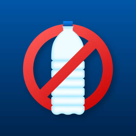 Drinks are prohibited flat vector icon. No drinks flat vector sign. Vector illustration 向量圖像