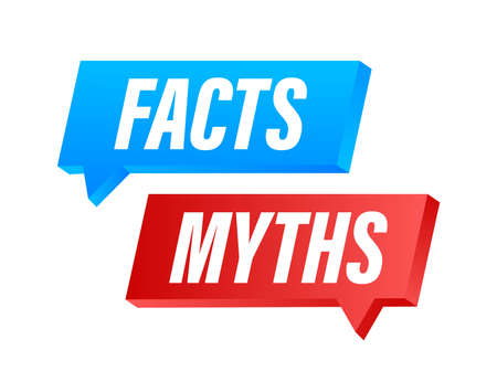Myths facts. Facts, great design for any purposes. Vector stock illustration. Vector Illustration