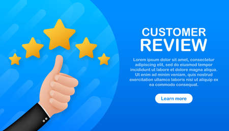 Customer review, Usability Evaluation, Feedback, Rating system isometric concept. Vector illustration Illustration