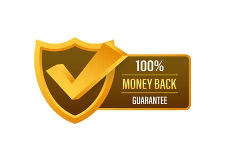 Money back guarantee. Ribbon banner. Sale tag. Sale banner badge. Vector stock illustration. Ilustracja