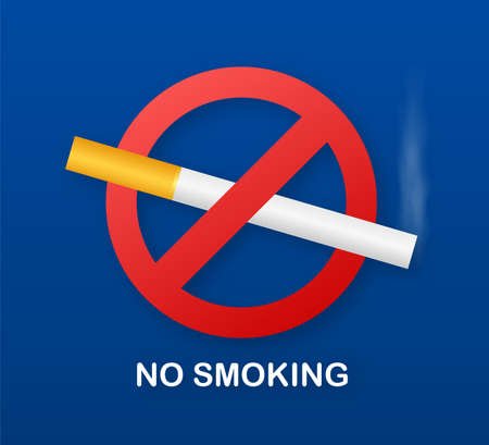 No smoking sign on white background. Vector stock illustration.