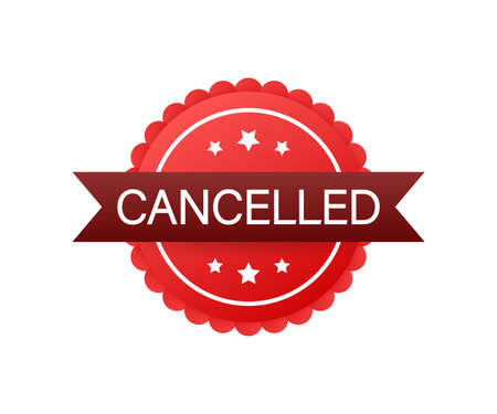 Cancelled stamp. cancelled square grunge sign. Vector stock illustration.
