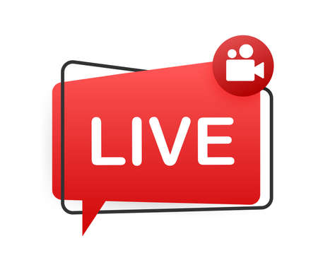 Live streaming logo. Business icon. Stream interface. Vector stock illustration.