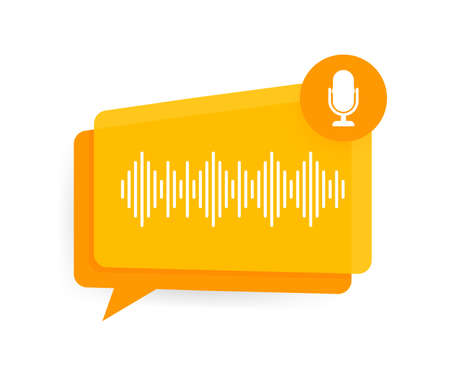 Podcast. Badge, icon, stamp . Vector illustration.