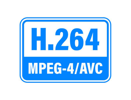 H.264 video compression standard. Vector stock illustration.  イラスト・ベクター素材
