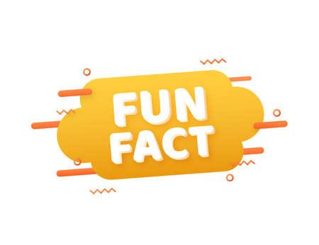 Fun fact. Speech bubbles. Web banner. Vector stock illustration.