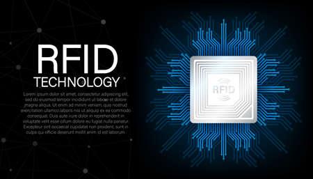 RFID Radio Frequency Identification. Technology concept. Digital technology. stock illustration. Vecteurs