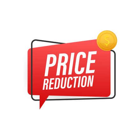 Price reduction banner template design. Sale special offer. Vector stock illustration. Illusztráció
