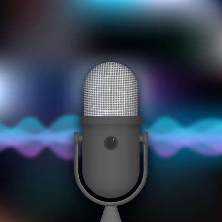 Podcast. Badge, icon, stamp. Vector illustration.