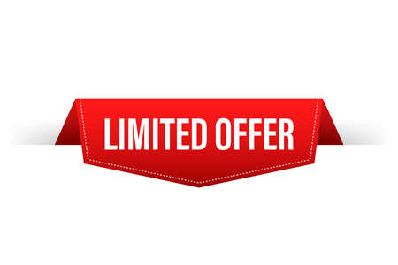 Limited offer, great design for any purposes. Best product. Vector stock illustration.