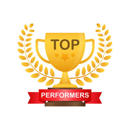 Top Performers. Website template designs. Vector illustration concepts for website and mobile website design and development. Vector illustration.