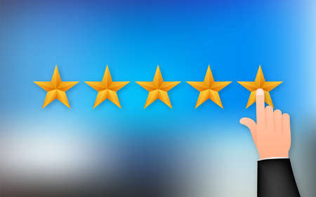 Customer review, Usability Evaluation, Feedback, Rating system isometric concept. Vector illustration Illusztráció